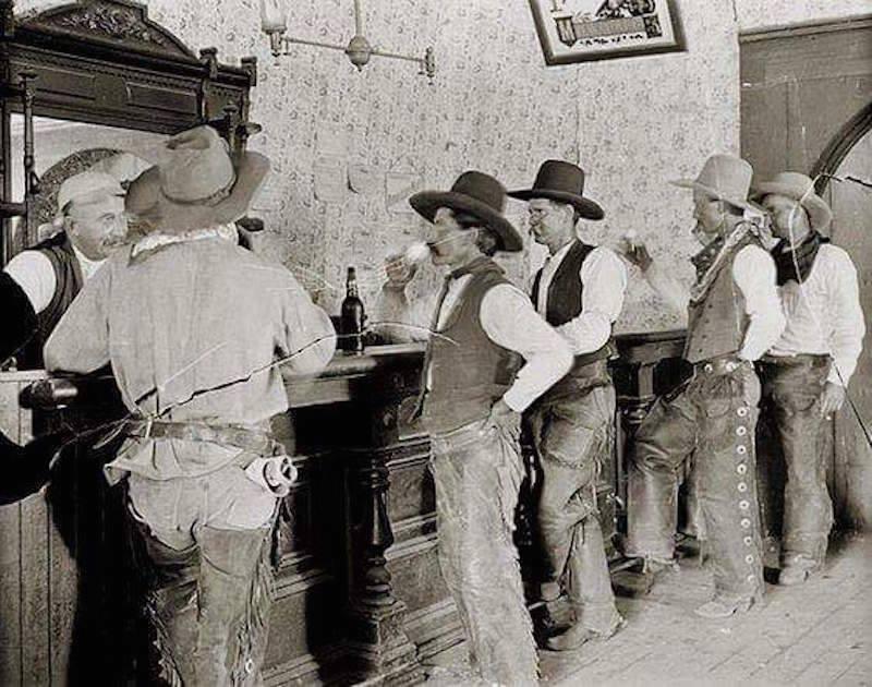 Cowboys at asaloon