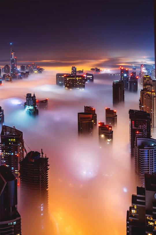 Dubai in thefog