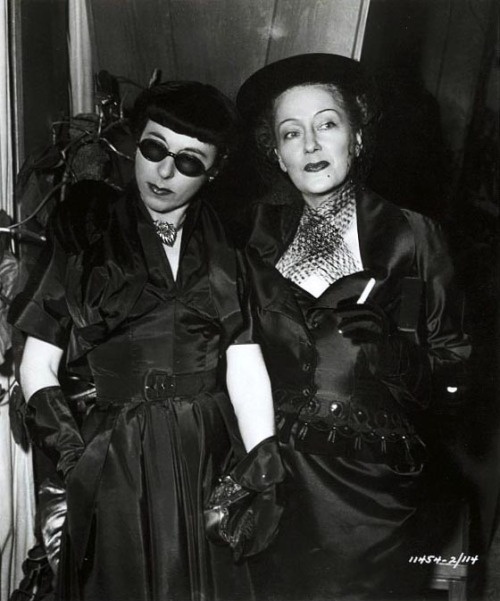 Edith Head and Gloria Swanson