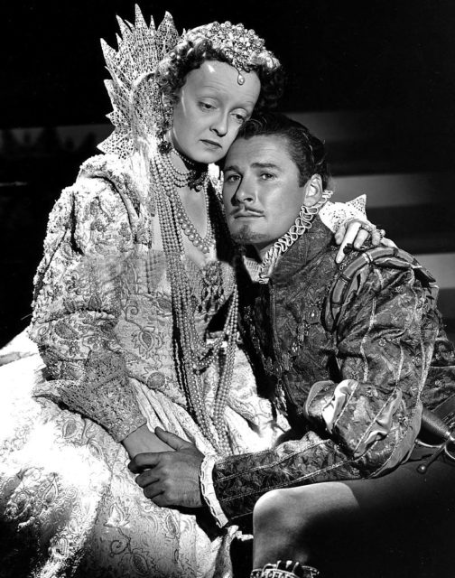 Bette Davis and Errol Flynn