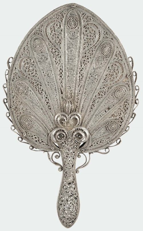 Silver backed fan from India