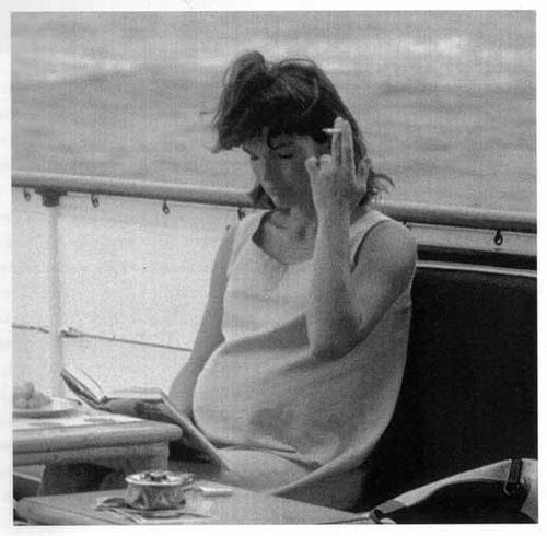 Jackie Kennedy pregnant and smoking