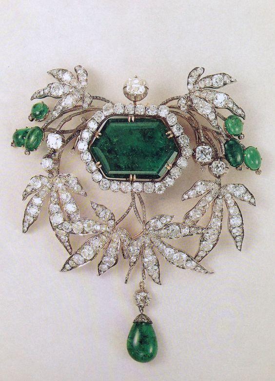 Jade and diamonds