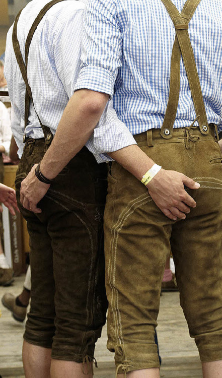 Leiderhosen together