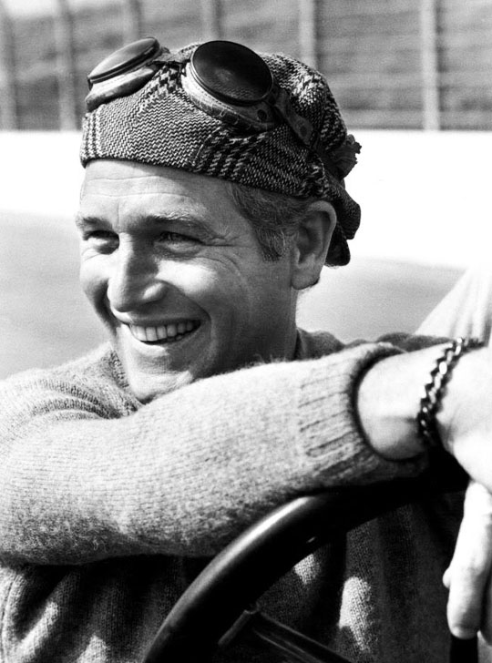 Paul Newman at the racetrack