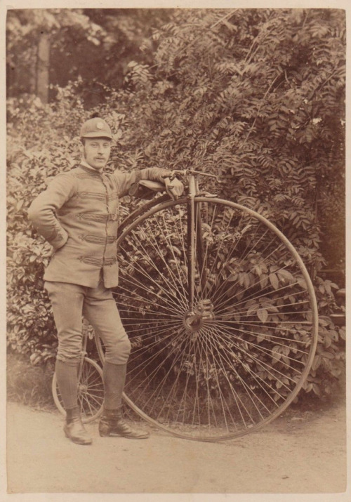 A man and his penny farthing
