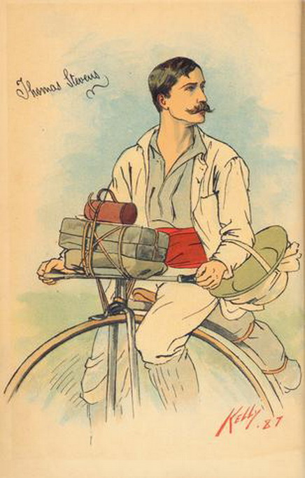 Penny farthing andstache