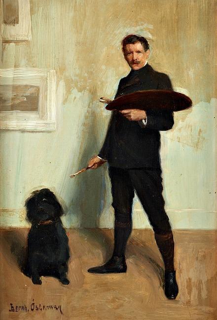 """""""Self Portrait with Dog"""", by BernhardOsterman"""