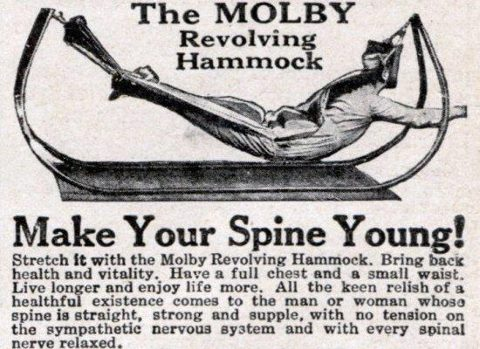 Make your spine young with the revolving hammock