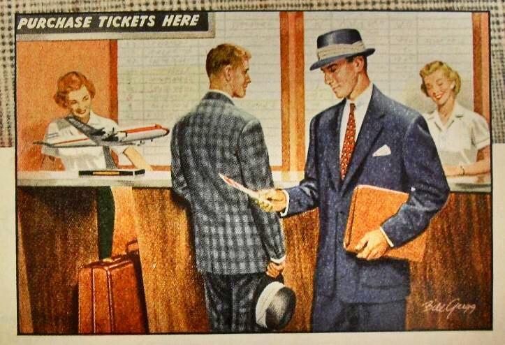 Air travel, circa1950