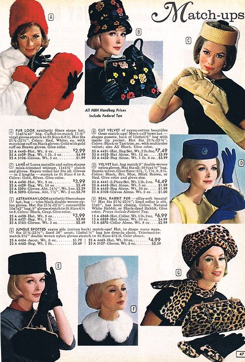 Matching accessories, 1964