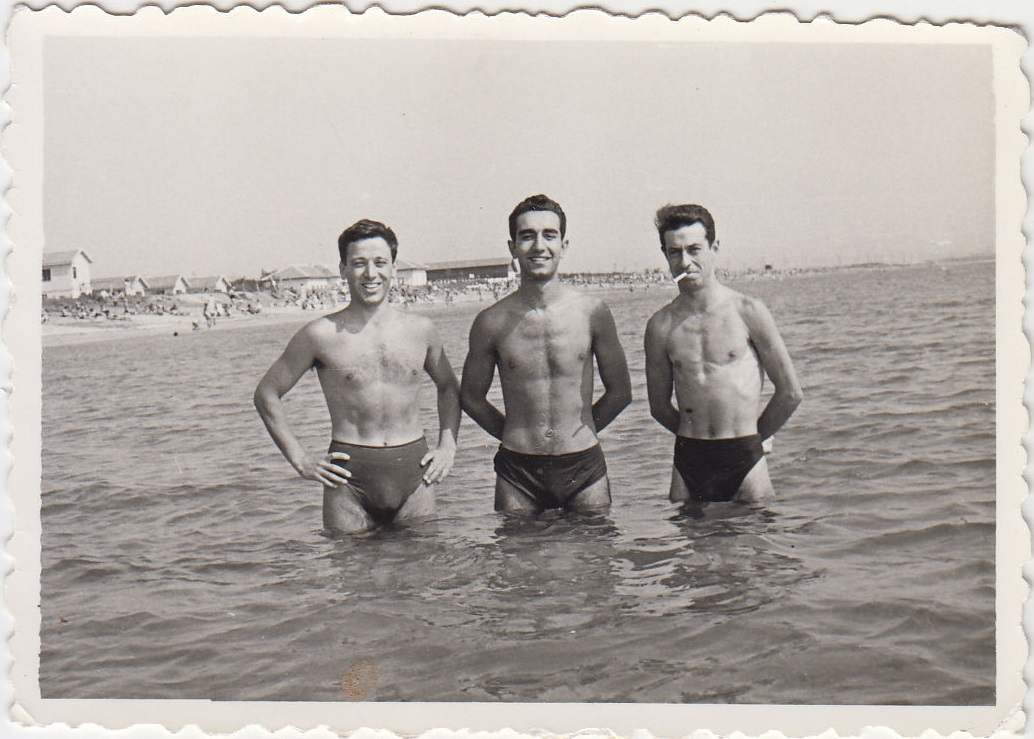 Three Men Together at the beach