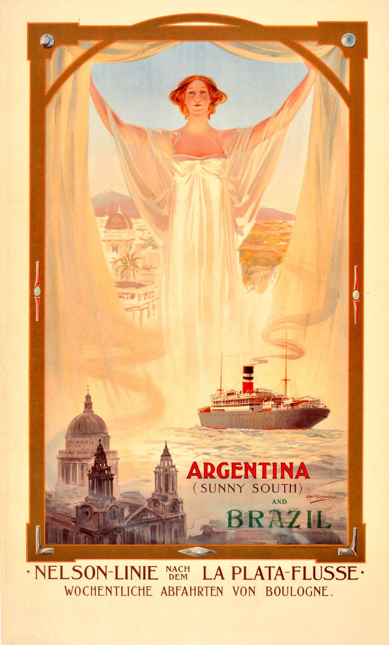 Argentina and Brazil, circa1905