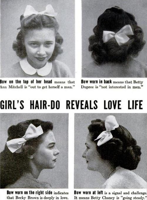 Girl's hair-do reveals lovelife