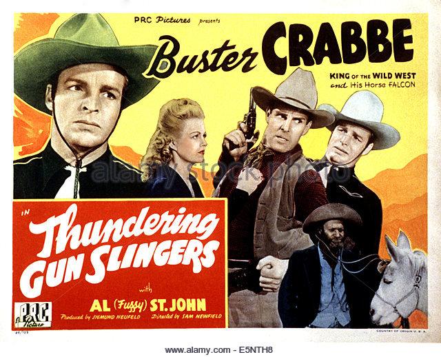"""Buster Crabbe in """"Thundering GunSlingers"""""""