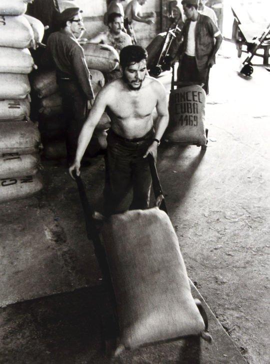 Che Guevera working in Havana,1960s
