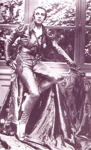 Erté dressed for the Bal du Grand Prix, Paris Opera,1926