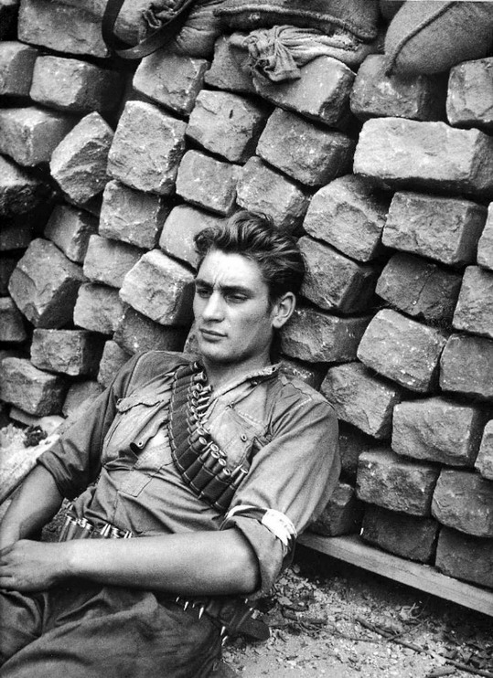 French Resistance fighter taking a break,WWII