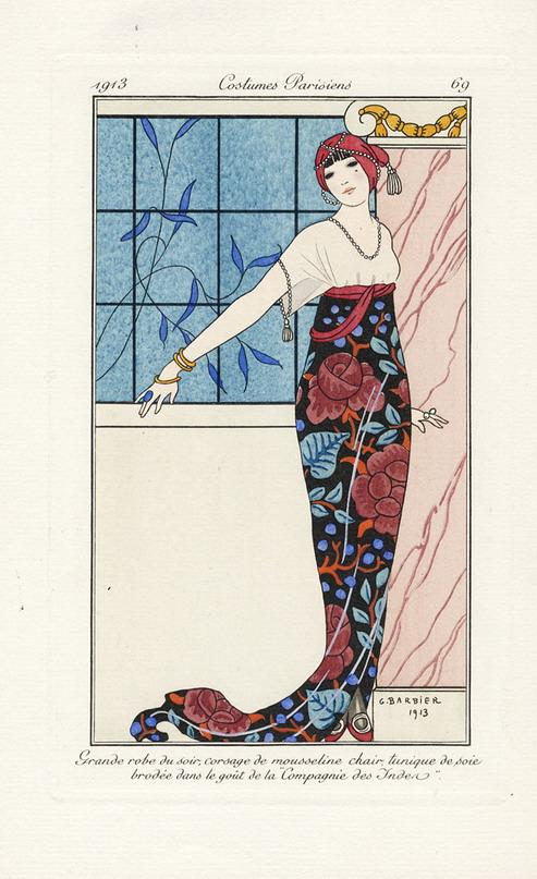 Costumes Parisiens par George Barbier,1913