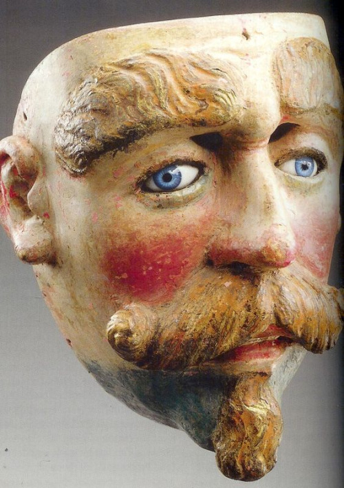 Old glass-eyed mask from Central America