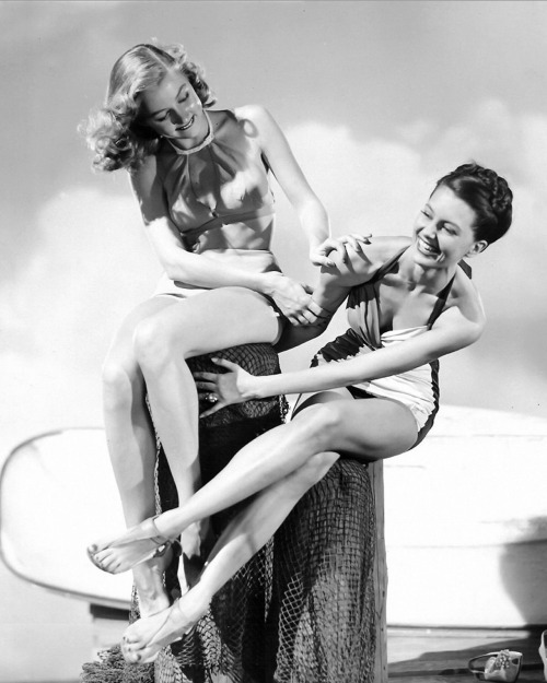 Gloria Grahame and CydCharisse