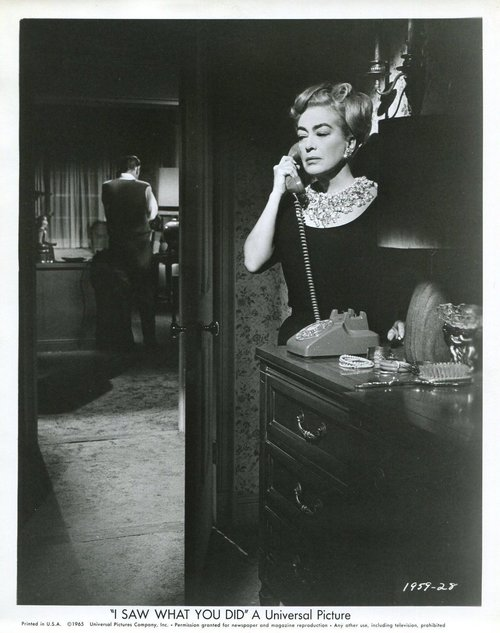 "Joan Crawford in ""I Saw What You Did"", 1965"