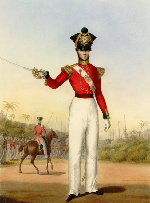 Officer of the 45th Regiment of Foot Light infantry, 1831, D. Smith (but it's all about the hat)