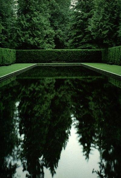 Green reflecting pool