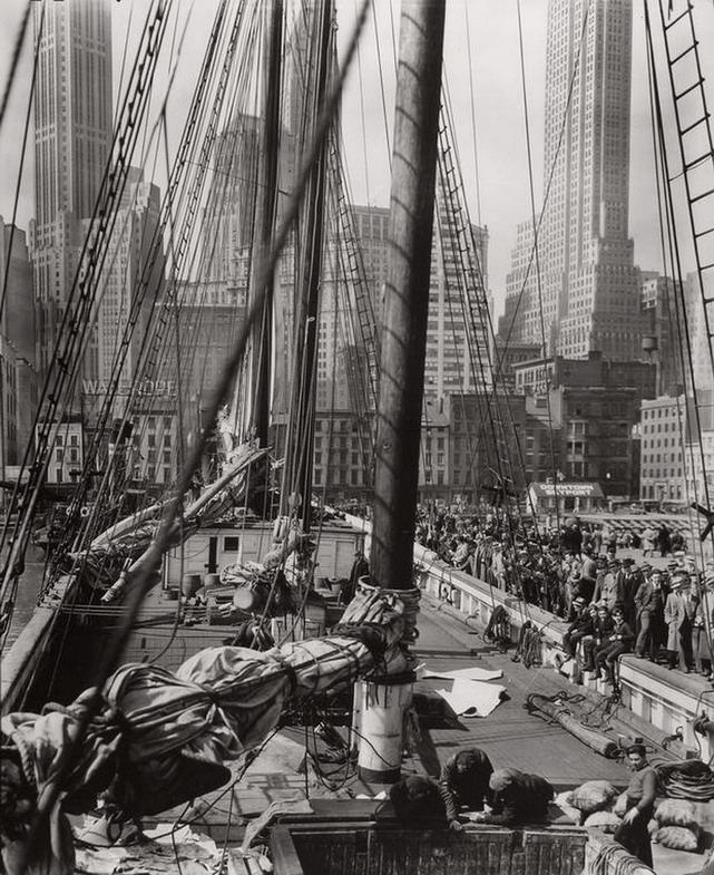 Ship at dock, NYC,1930s