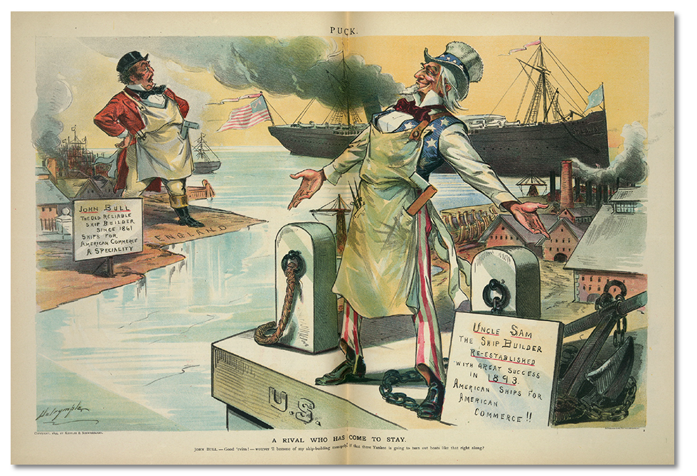 British alarm at the growing American maritime might,1890s