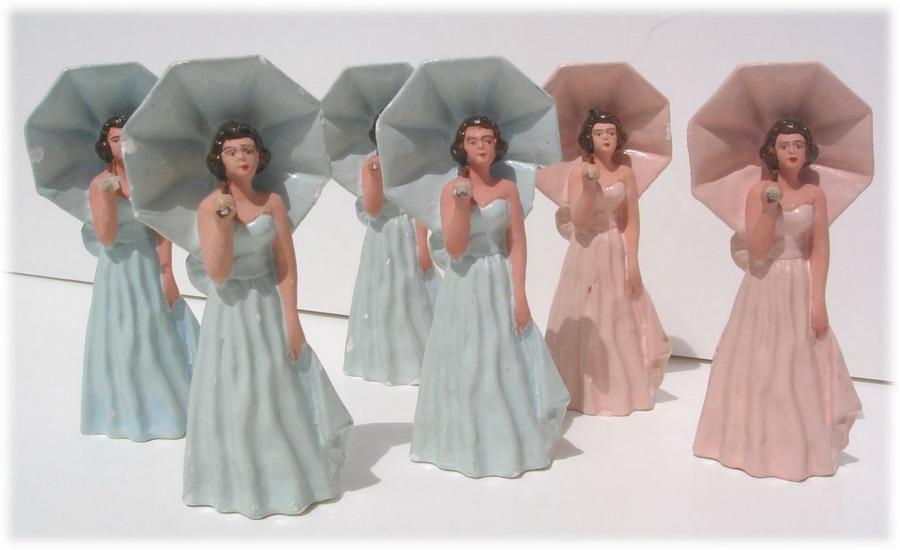 Vintage wedding caketoppers
