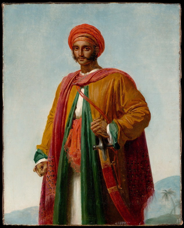 "Anne Louis Girodet-Trioson: Study for ""Portrait of an Indian"""