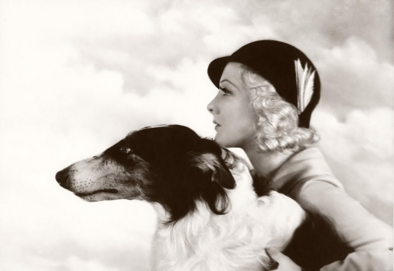 Ziegfeld model with a borzoi, by Alfred Cheney Johnston