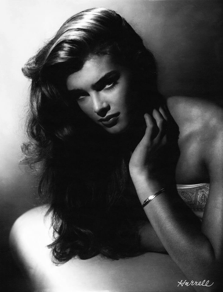Fifty years after his heyday as a Hollywood photographer George Hurrell was still taking photos: Brooke Shields, 1981