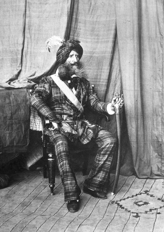 Colonel Alexander Gardner, Commander of the Maharajah's troops in Kashmir, India, 1864