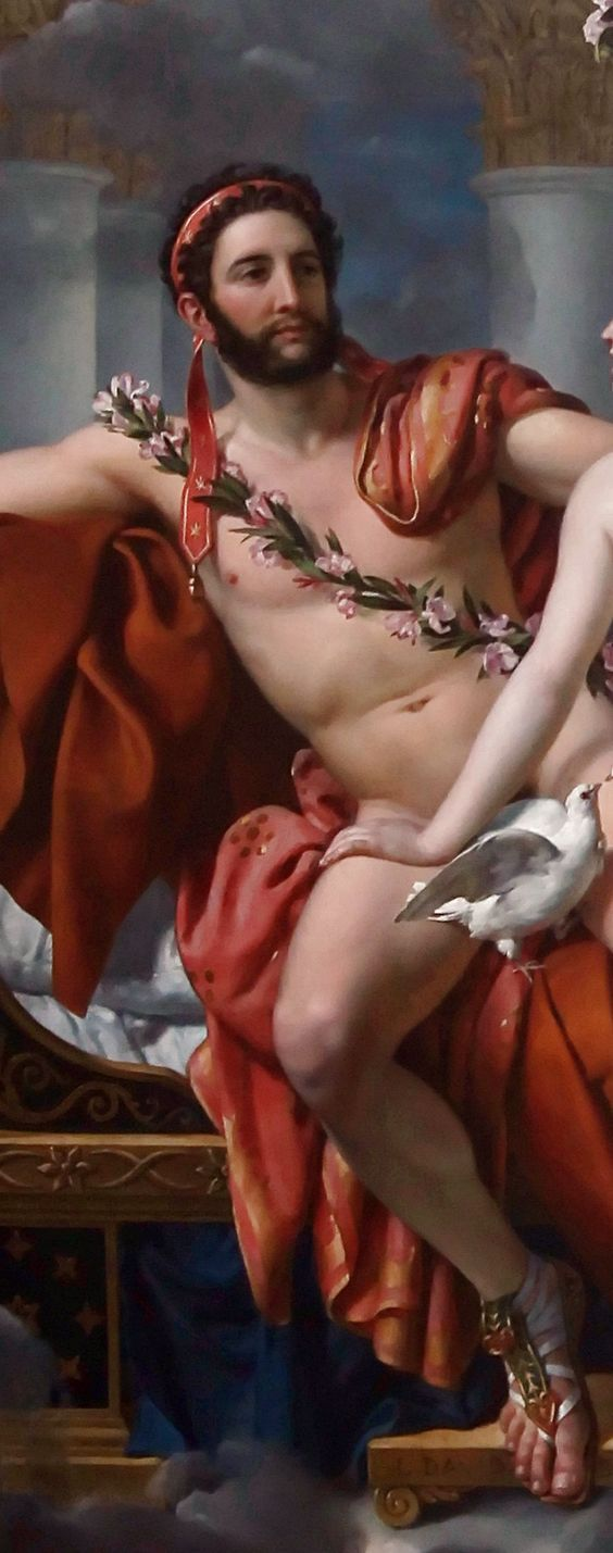 Detail from a painting, with strategically placed dove