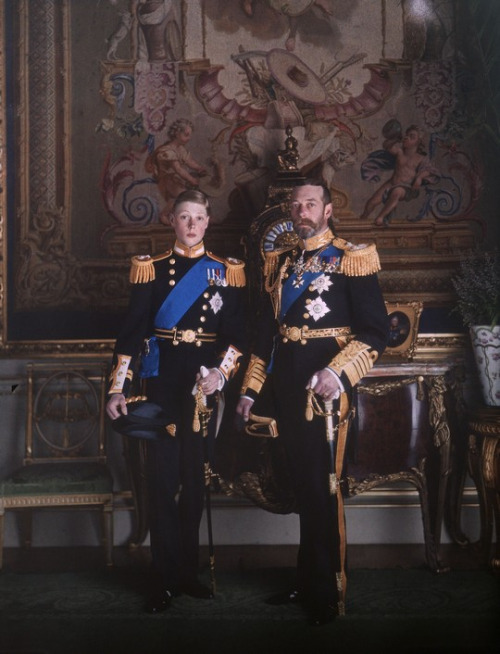 King George V and his son