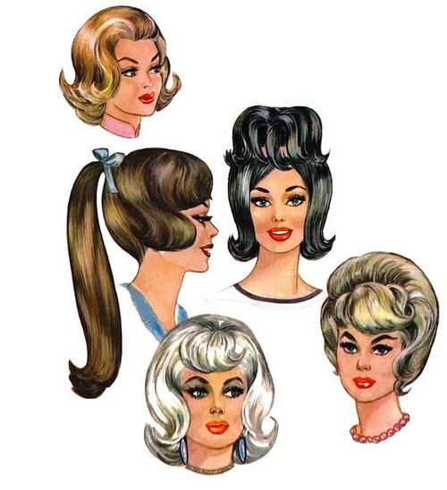 Hair styles, 1960s