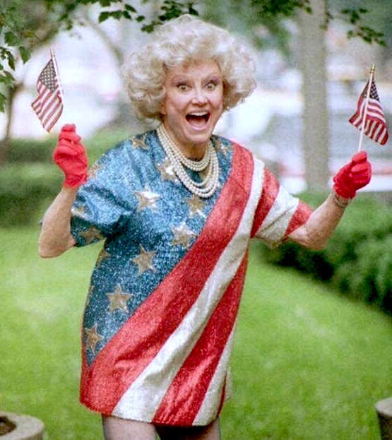 Phyllis Diller celebrating Independence Day