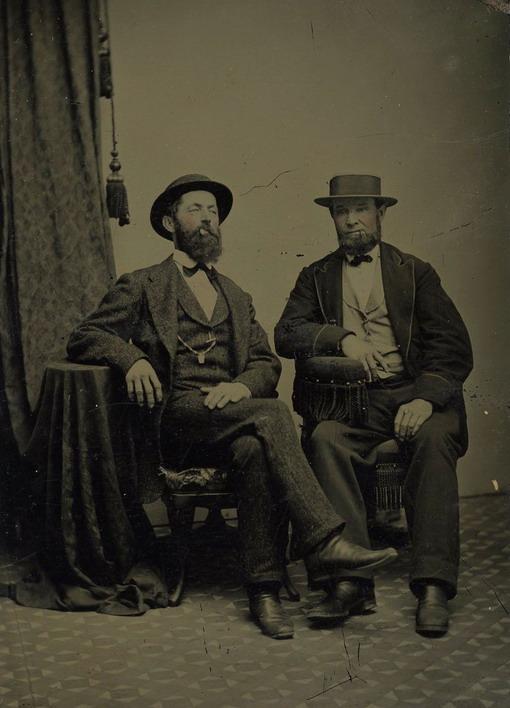 Vintage men withbeards