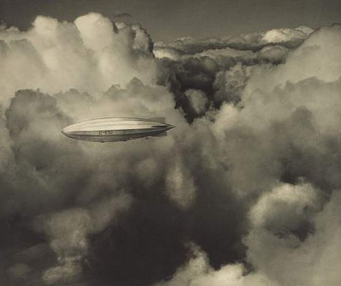 R100 Airship in the Clouds, photo by Alfred G. Buckham, 1930