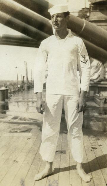 Vintage barefoot sailor