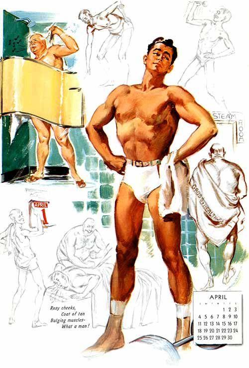 Rosy cheeks, Coat of tan/Bulging muscles – What aman!