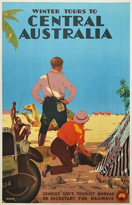 Winter tours to central Australia,1930s