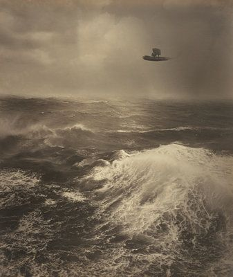 """Flying Boat Over The Sea"" by early aviation photographer Alfred G. Buckham"