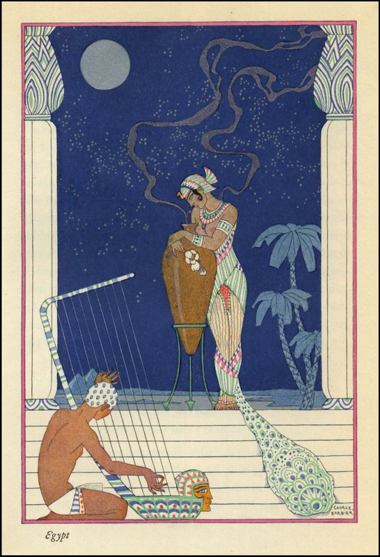 """Egypt"", illustration by George Barbier, circa 1920"