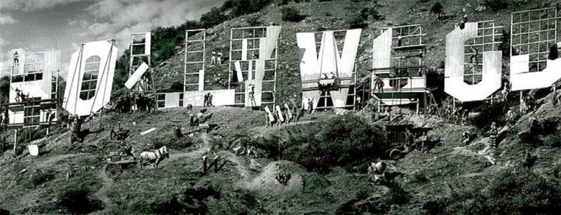 Constructing the Hollywood sign