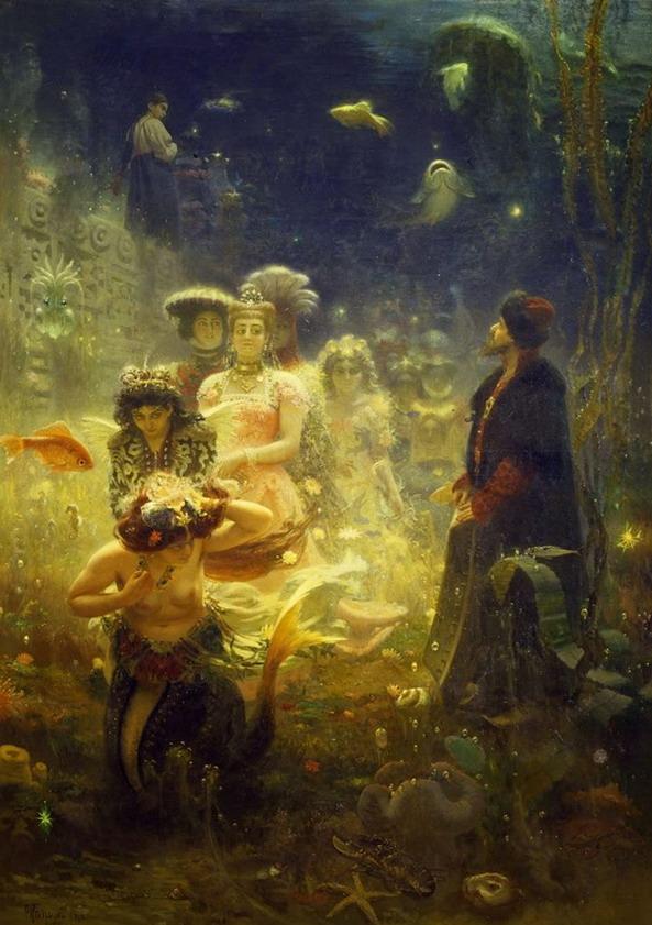 An underwater fantasy by Ilya YefimovichRepin