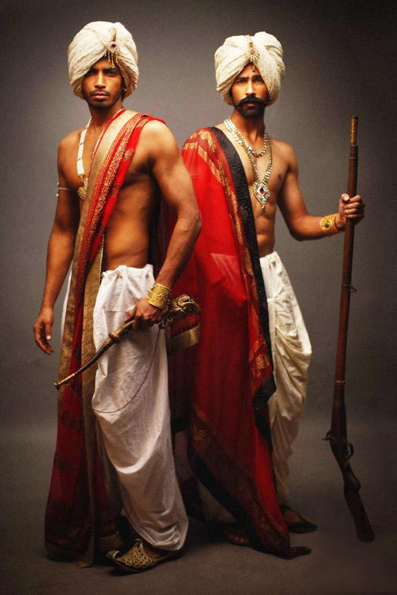 Indian men in traditional outfits & accessories