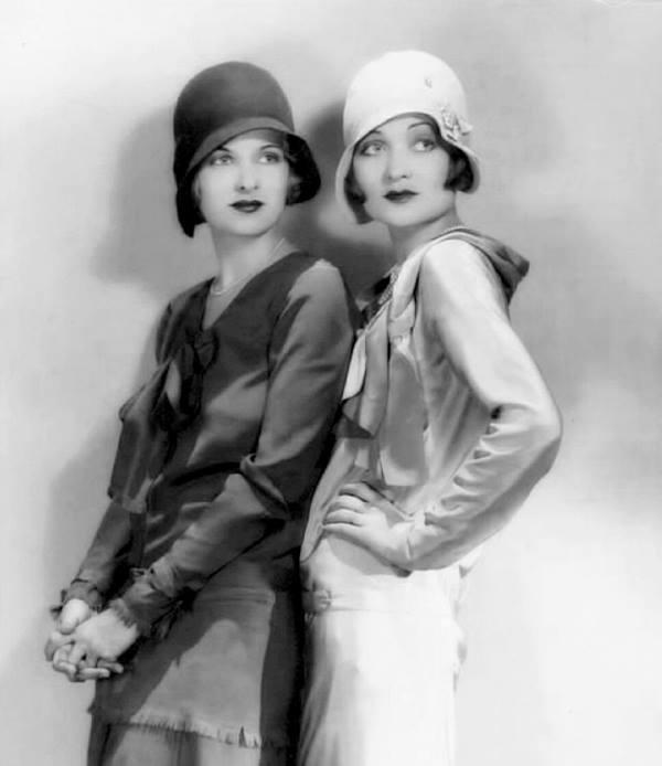 Joan Bennett and Constance Bennett,1930
